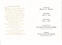 Margaret Davis Funeral Notice