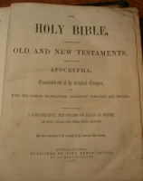 Garrard-Gould Bible inside cover