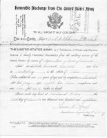 A Garrard Macleod Army Discharge Paper