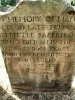 Malcom McLeod died 1785 headstone Rhu cemetery