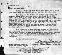 Margaret Laura Davis Birth Certificate Change