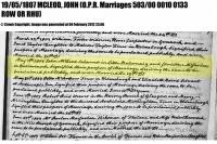 John McLeod marriage Christine McFarlan 1807