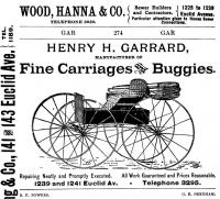 Garrard Carriages Ad Cleveland Directory 1890