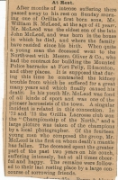 William Rutherford McLeod Newspaper Death Notice