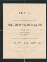 William Rutherford Mcleod Death Notice