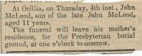 John Gibb McLeod death notice