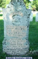 John Gibb McLeod Headstone St Andrew/St James Cemetary